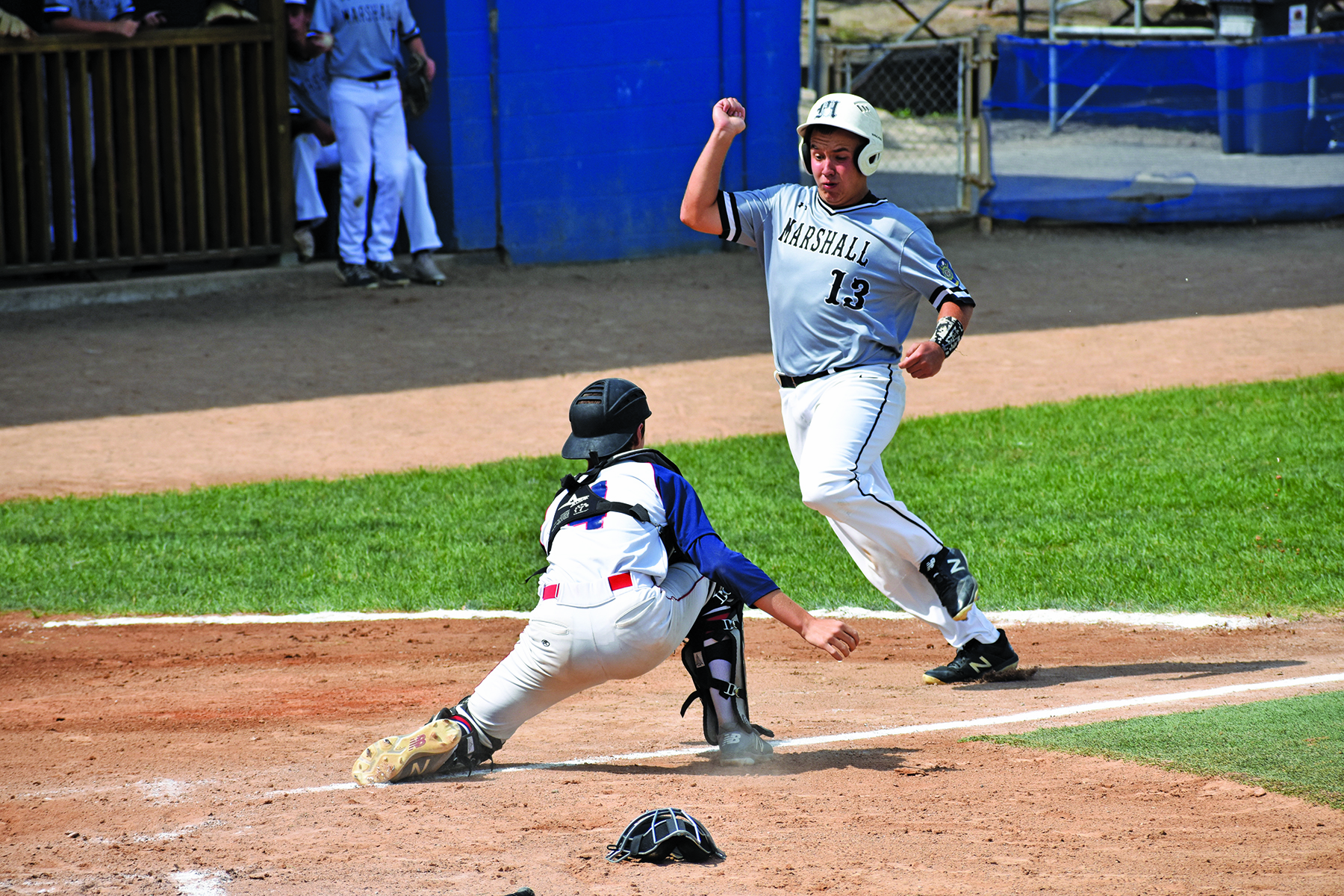Junior Legion Baseball Marshall Black Falls To East Grand
