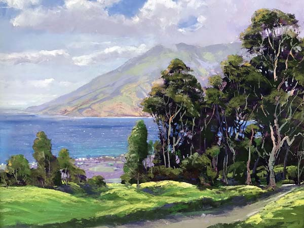 """View of West Maui from Thompson Ranch"" by Michael Clements. Photo courtesy Viewpoints Gallery"