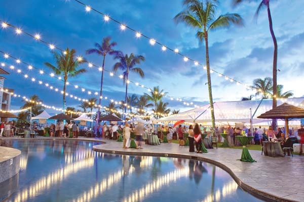 Montage Kapalua Bay will set the oceanfront stage for the Grand Tasting from 6 to 9 p.m. June 9. Food and drink will be plentiful, including booths with an array of international wines and gourmet food by resort chefs. Kapalua Wine & Food Festival photo