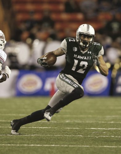 Keelan Ewaliko started the University of Hawaii's final three regular-season games last year, catching 10 passes for 139 yards and a touchdown. The Rainbow Warriors begin the 2017 season Aug. 26 at Massachusetts. • AP file photo