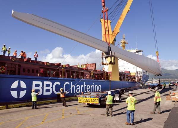 Wind turbine parts arrive to begin Maui road trip | News
