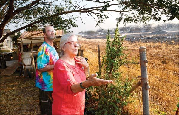 Gaining ground over blazes: Residents return to N  Kihei