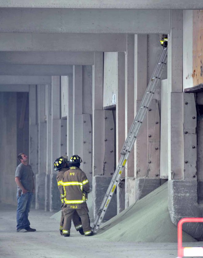Fire in hopper of sulfur powder challenges responders | News