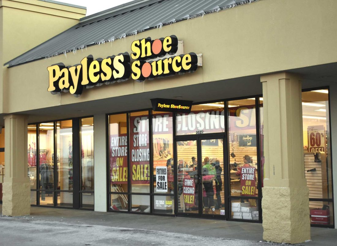 b94beaec3 Messenger photo by Bill Shea Payless Shoes at 3025 First Ave. S. in Fort  Dodge will close at the end of the business day on Dec. 28.