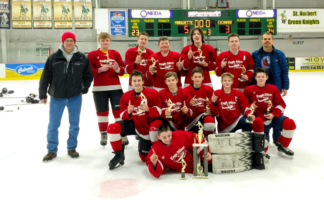 Eagle Mine Bantam B team wins Tundra Tussle Tournament