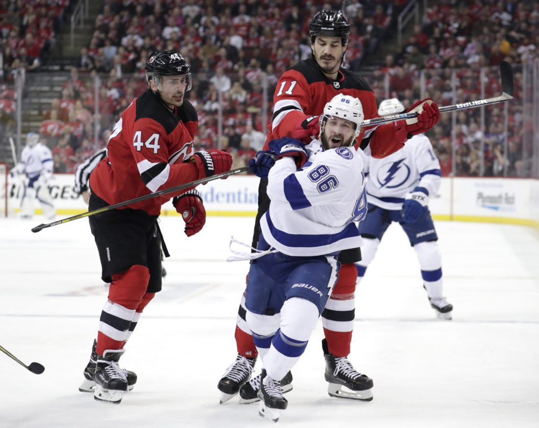 the latest f49c9 b4d3c Kucherov leads way as Lightning take 3-1 lead over Devils ...