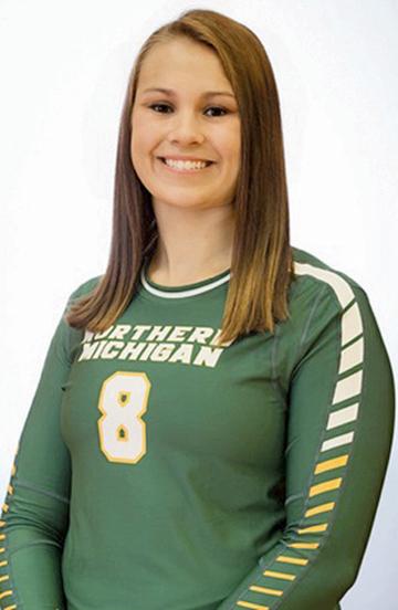Northern Michigan University volleyball senior Maggie