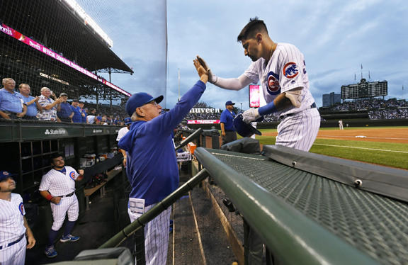 1bb337c8 Late homer lifts Chicago Cubs to wild 12-11 win over San Francisco ...