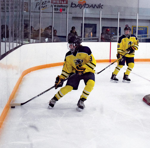 Escanaba Hockey Team Outscores Negaunee Miners, 11-3