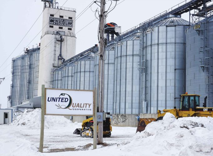 Jill Schramm/MDN  Storage bins in New Town are part of the grain-handling side of United Quality Grain.