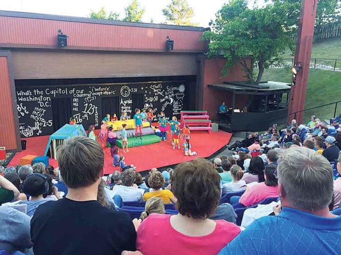 SubmittedPhoto  Founded on the principles of great seating and an intimate view of the performance, the summer amphitheater has featured live performances by the Minot Summer Theatre since 1970.