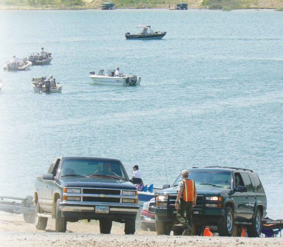 Kim Fundingsland/MDN The annual Governor's Cup Walleye Derby headquarters out of Fort Stevenson State Park each July. Fishing is a major attraction for visitors to all State Parks located on Lake Sakakawea.