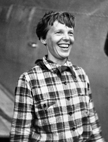 """FILE - In this June 6, 1937, file photo, Amelia Earhart, the American airwoman who is flying round the world for fun, arrived at Port Natal, Brazil, and took off on her 2,240-mile flight across the South Atlantic to Dakar, Africa. A new documentary """"Amelia Earhart: The Lost Evidence,"""" which airs Sunday, July 9, 2017, on the History channel, proposes Earhart didn't die without a trace 80 years ago. Instead, the film argues that she and her navigator Fred Noonan crash-landed in the Japanese-held Marshall Islands, were picked up by Japanese military and that Earhart was taken prisoner. (AP Photo, File)"""