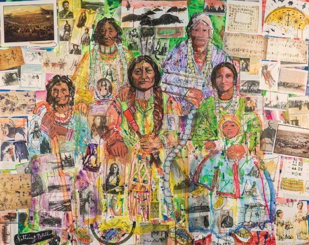 "Submitted Photo This photo is of a painting, ""Family Portrait: Northern Plains National Heritage Area Suite,"" featuring Sitting Bull and his family by Minot artist Walter Piehl. The painting is in the featured exhibit at the Lewis & Clark Interpretive Center, Washburn."