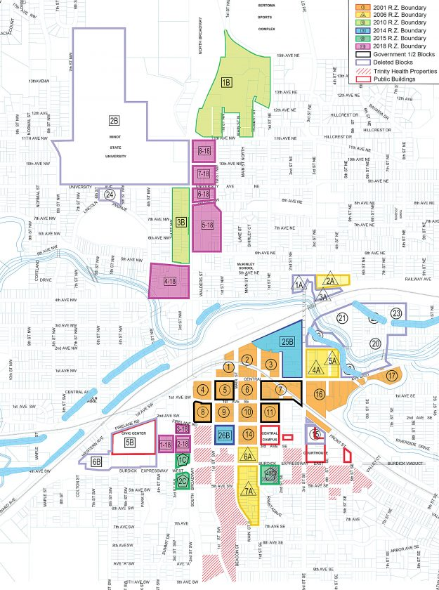 Minot State University Campus Map.Board Rewrites Policies Map For Tax Incentive Program News