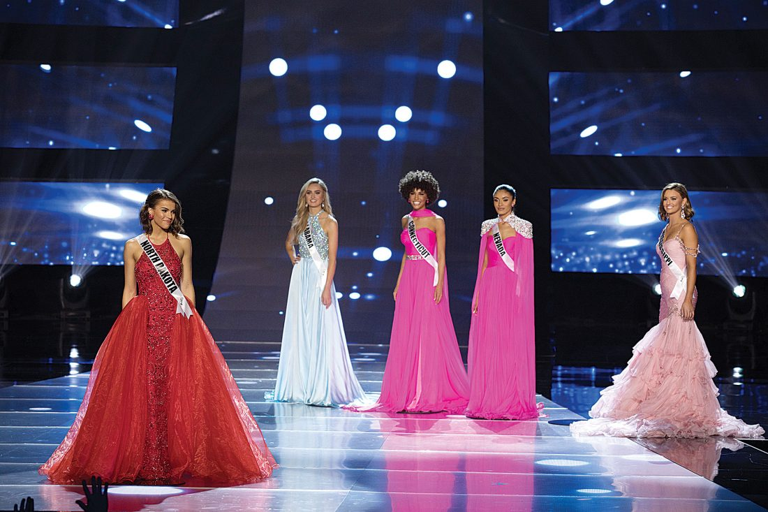 newest collection dd438 89ebe Caitlyn Vogel, left, stands on stage with Miss Alabama Teen USA Kalin Burt,  Miss Connecticut Teen USA and Miss Teen USA winner Kaleigh Garris and Miss  ...