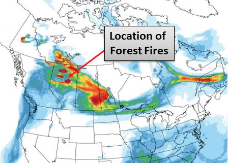 Canada Forest Fire Map on