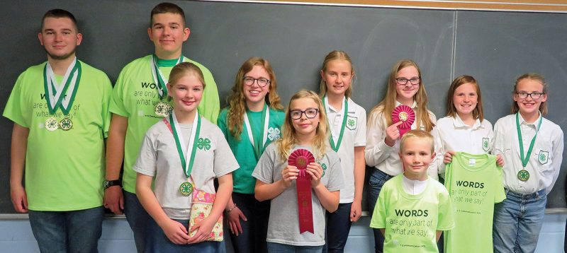 Multiple wins for Ward County 4-H at District Communication Arts Contest