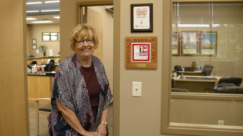 Paula Bachmeier is a champion blood donor
