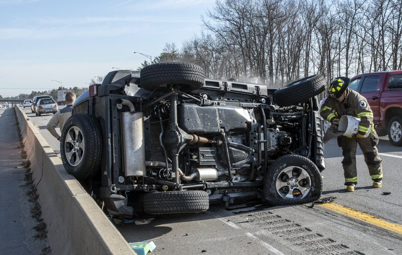 Rollover on the Everett Turnpike | News, Sports, Jobs - The