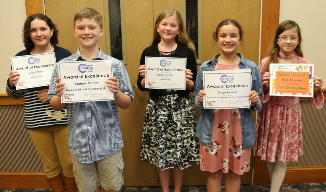 Local students awarded in Kleiman Writing Contest | News, Sports