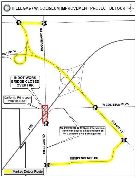 Hillegas-W. California Road intersection to close for work ... on ahtd road conditions map, txdot road conditions map, wydot road conditions map, idot road conditions map, weather road map, toll road map, kdot road conditions map, arizona state highway road map, road closure map, modot road conditions map, cdot road conditions map, indiana road map, mdt road conditions map,