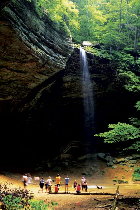 Photo provided by ExploreHockingHills.com Tourists visit Ash Cave.