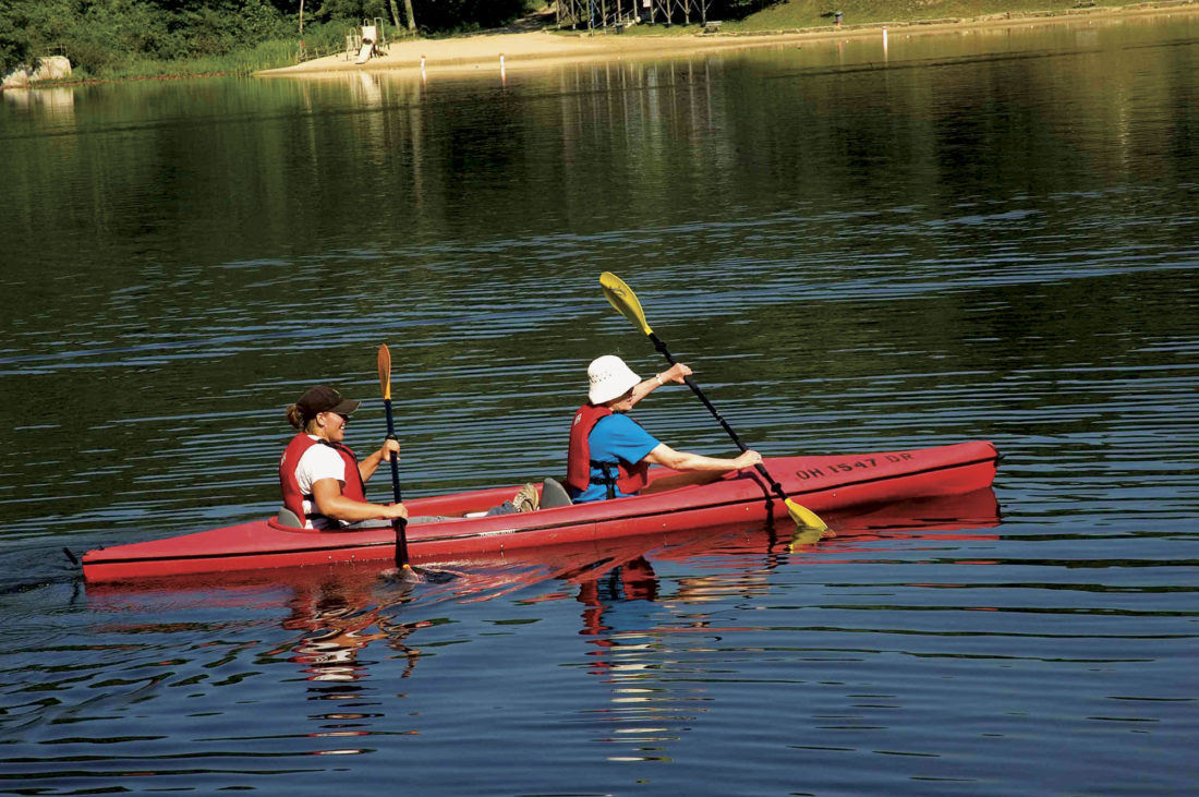 Photo provided by ExploreHockingHills.com Kayaking is an activity available in the Hocking Hills area.