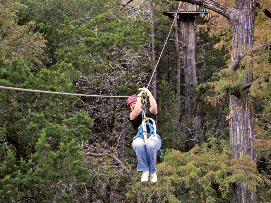 Photo provided by ExploreHockingHills.com Ziplining and canopy tours are available in Hocking Hills.