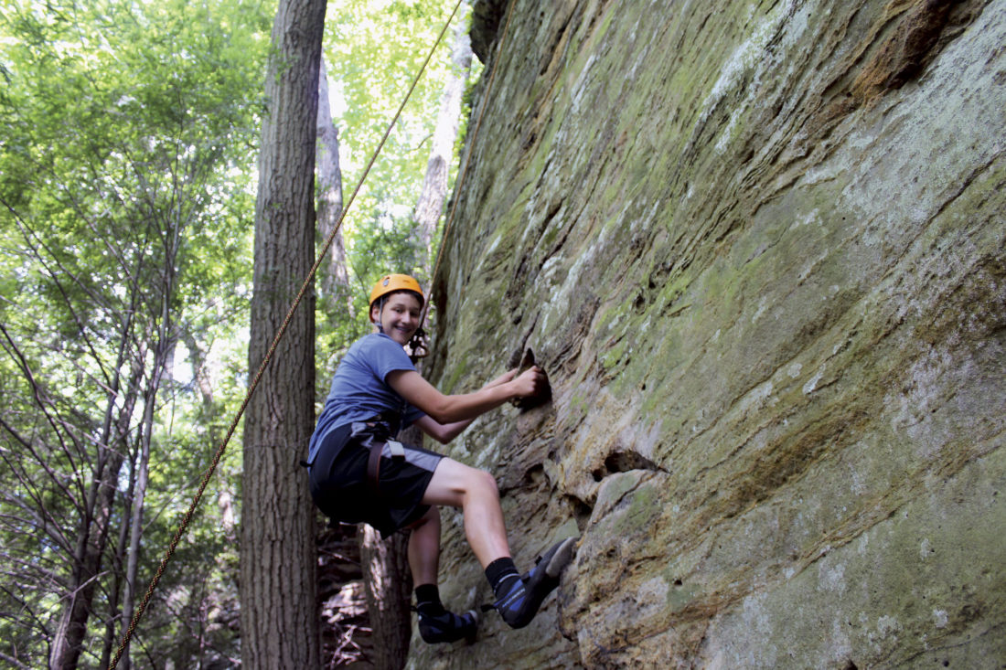 Photo provided by ExploreHockingHills.com Rock climbing is an activity  for a variety of age and skill levels.