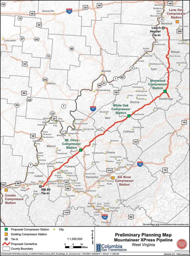 Ripley Ohio Map.Construction To Begin On Mid Ohio Valley Compressor Stations News
