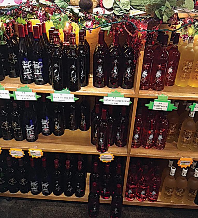 Bbw riding bottle in liquor store
