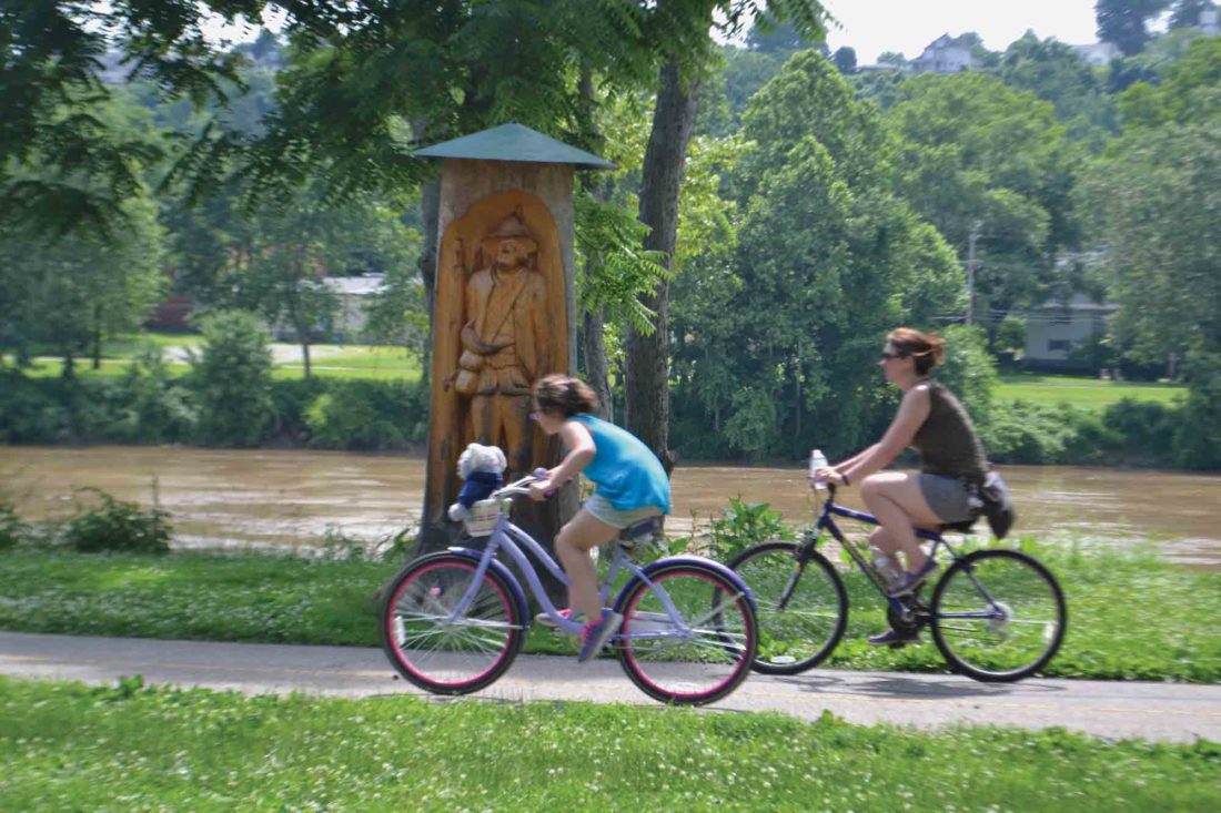 Destroyed trees become art in East Muskingum Park | News, Sports