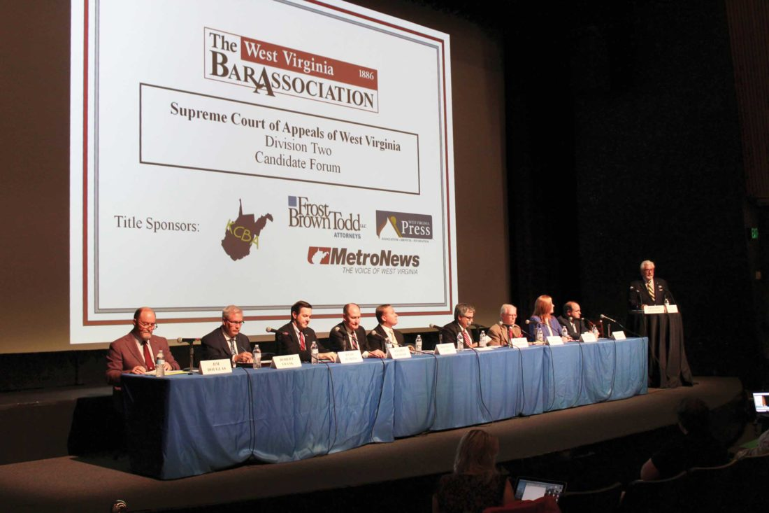 Candidates for West Virginia Supreme Court look towards