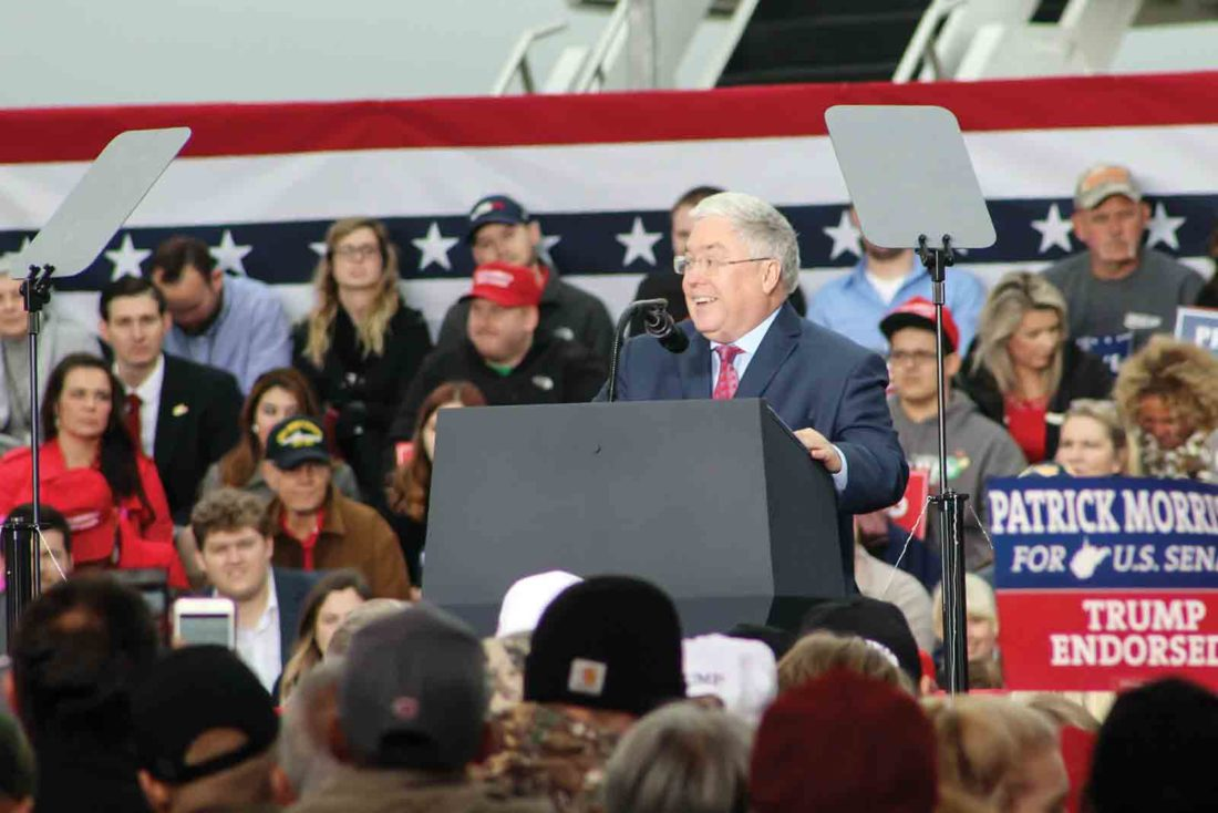 Trump stumps for Republican candidates in Huntington