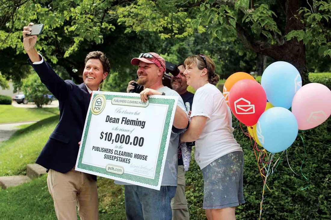 Publishers Clearing House prize patrol surprises Marietta winner
