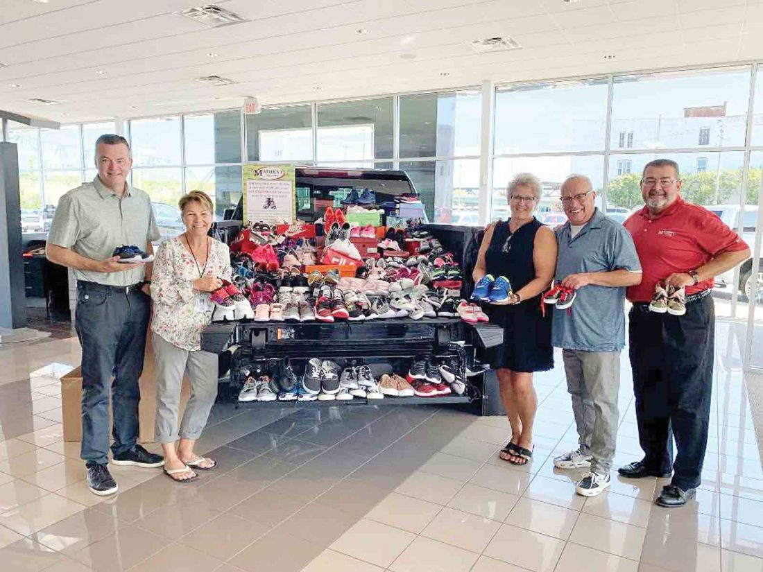 Matheny Motors Parkersburg Wv >> Matheny Motors Collects Athletic Shoes For Kids News
