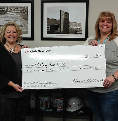 3M Club donates to Relay for Life | News, Sports, Jobs - The