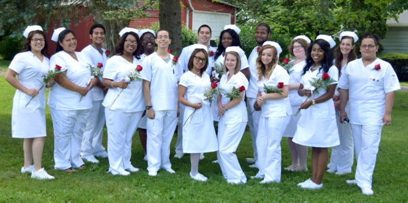 Submitted photo The Erie 2-Chautauqua-Cattaraugus BOCES in partnership with the Cassadaga Jobs Corps announces its Licensed Practical Nursing Class of 2017, which held a commencement ceremony in Cassadaga on June 20, 2017. Front: Andrea Carreon, Tami Thompson, Nia Bailey, Anthony Morales, Delmy Gabriela Pineda Ramirez, Christy Braymiller, Shelby Gilman, Taila McNeill, and Luis Medina. Back: Christopher Gonzalez, Ariane Cyusa, Roger Weaver, Tricia Douglas, Pierre Alexander, Stormie Simmons, and Chelsea Sheffield.