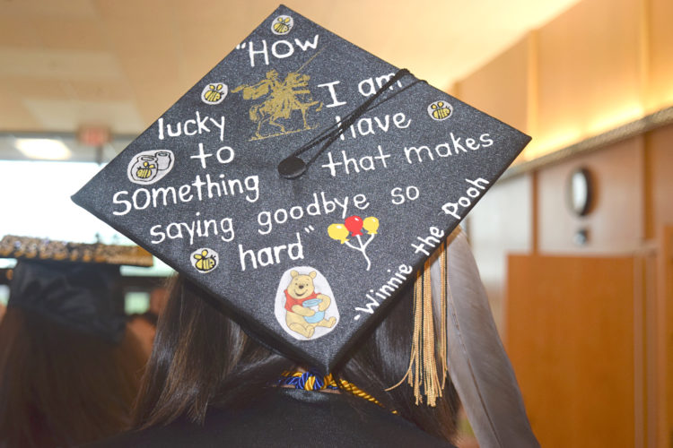 "A Silver Creek student ""wears"" her thoughts on graduating, with a little help from Winnie the Pooh."