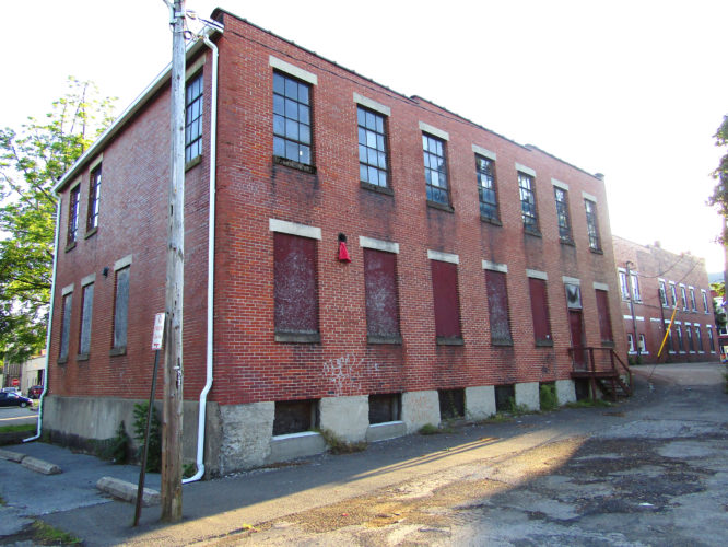 OBSERVER Photo by Greg Fox The former Card Seed Co. building at 50 W. Main St., Fredonia.