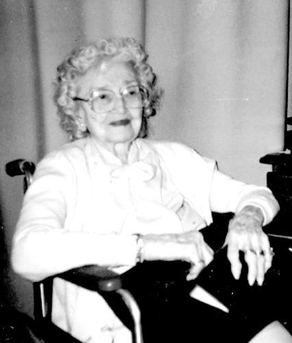 Jennie Schumacher Gillespie at 100 years old.