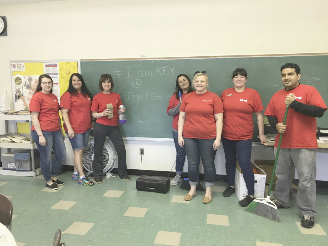 KeyBank employees volunteer at Boys and Girls Club | News