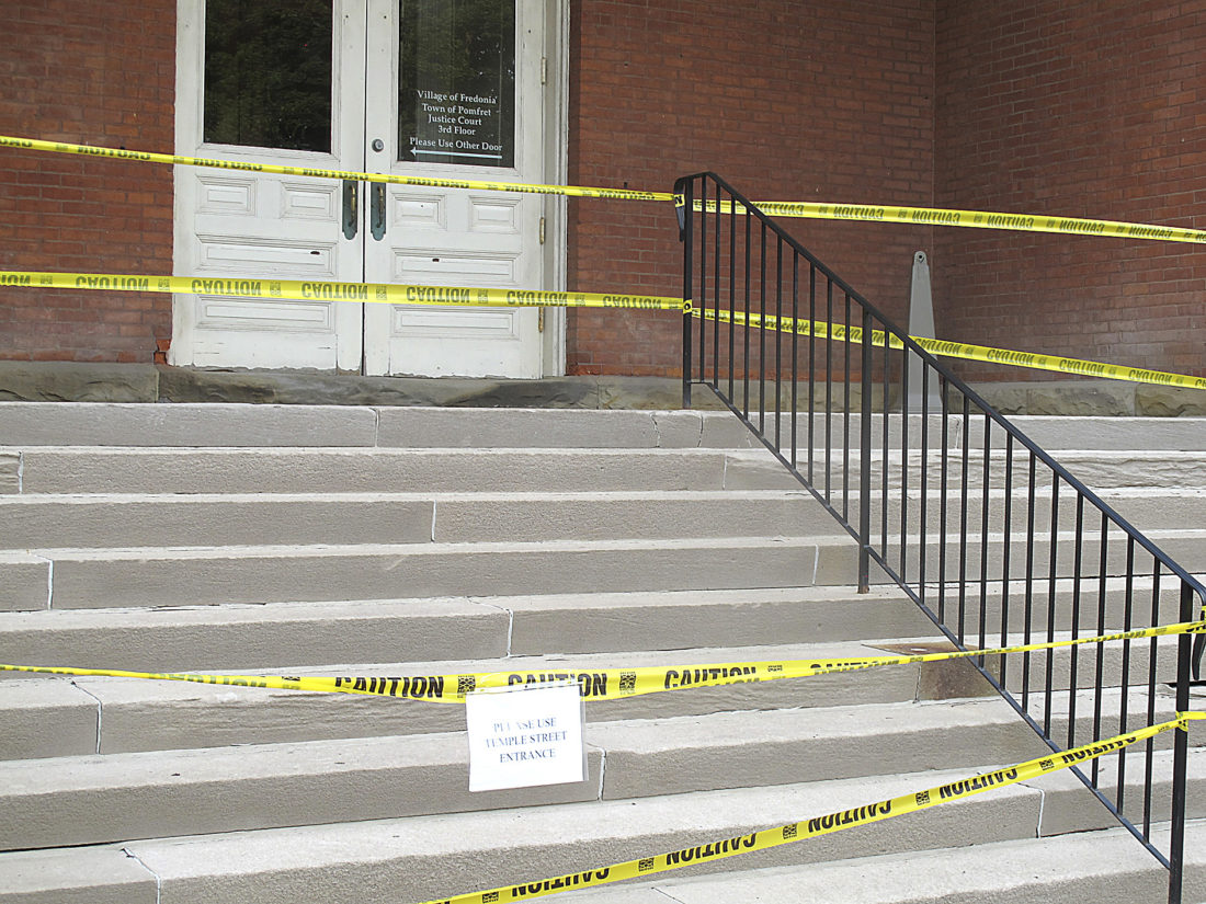 Steps at Village Hall closed for repairs | News, Sports, Jobs