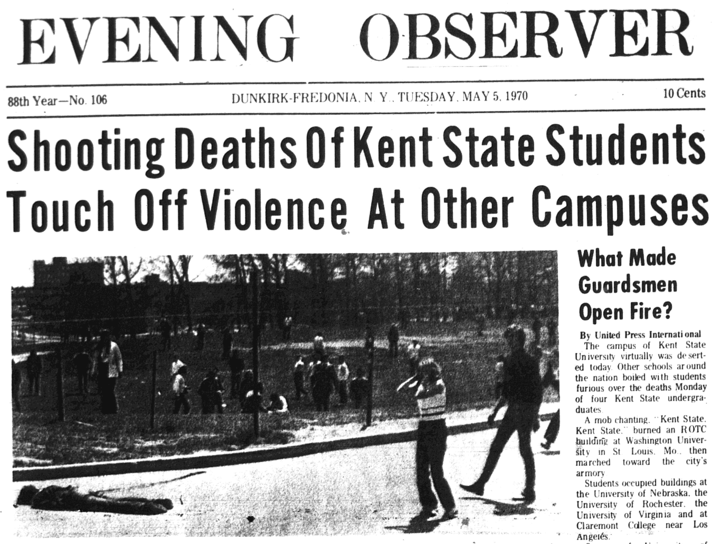 Local resident reflects on Kent State massacre | News, Sports, Jobs ...