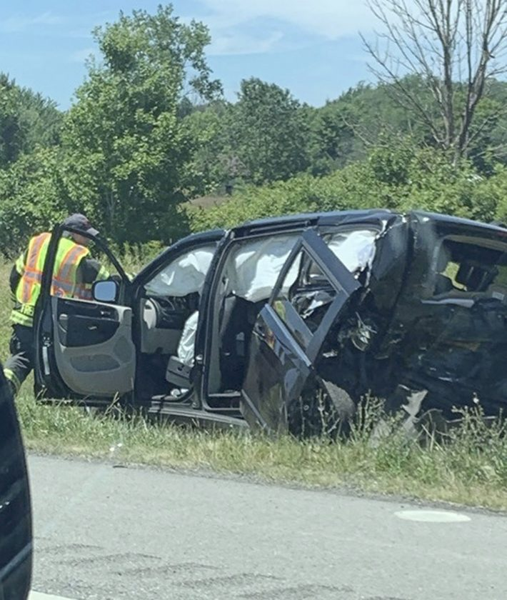 UPDATE: Two hospitalized after crash on Thruway   News, Sports, Jobs