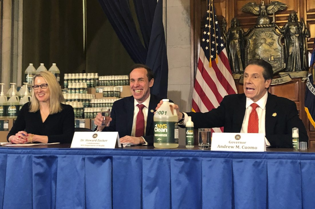 Gov. Cuomo unveils NY branded hand sanitizer to combat price gouging
