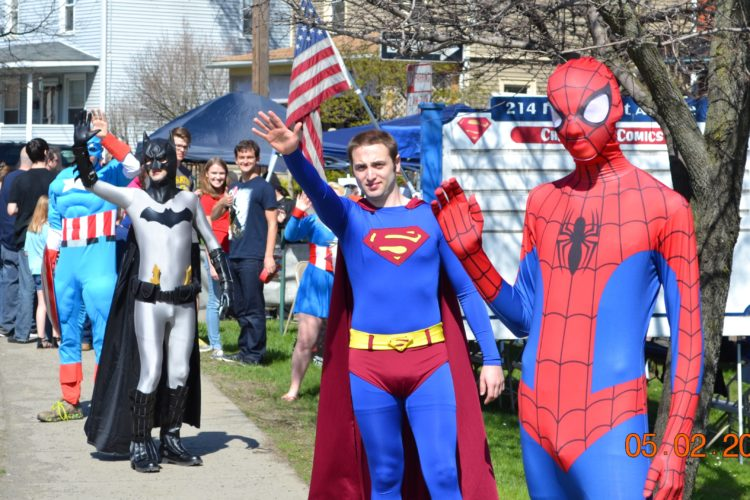 Chautauqua Comics will host comic book enthusiasts of all ages in its observance of Free Comic Book Day on Saturday from 11 a.m. to 5 p.m. Participants from last year's observance of Free Comic Book Day at Chautauqua Comics are pictured. Submitted photo