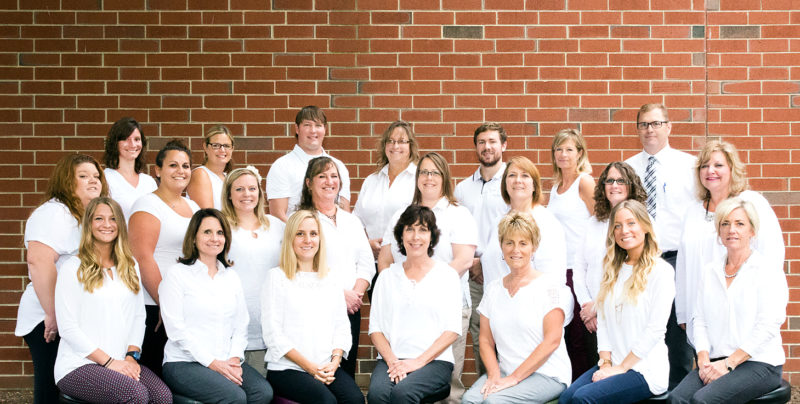 Staff members of Chautauqua Physical and Occupational Therapy, located at the Riverwalk Center at 15 S. Main St. in Jamestown. The clinic will be joined by a second clinic in Mayville, opening next month.  Submitted photo