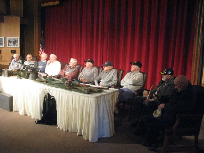 The Fenton History Center's Vets Finding Vets program will host a public event in which six area World War II veterans will recount their experiences from the war at Jamestown Community College's Scharmann Theatre on Saturday at 2 p.m. P-J file photo by Gavin Paterniti